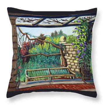 Idaho Botanical Gardens Throw Pillow