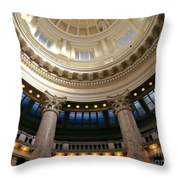 Throw Pillow featuring the photograph Idaho Capitol Half Dome by Patricia Strand