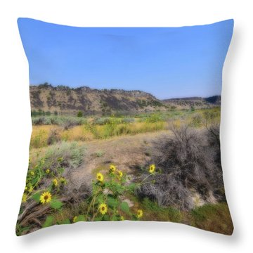 Throw Pillow featuring the photograph Idaho Landscape by Bonnie Bruno