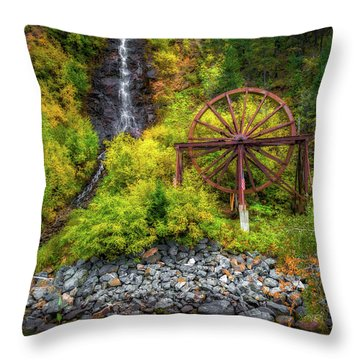 Idaho Springs Water Wheel Throw Pillow