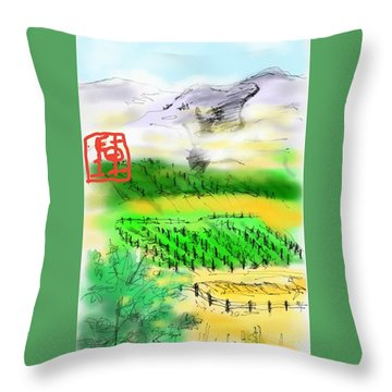 Idaho Vineyard Throw Pillow