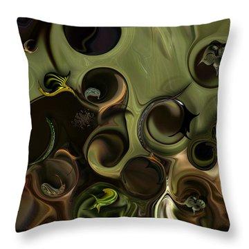 Throw Pillow featuring the digital art Idea And Intensity by Carmen Fine Art