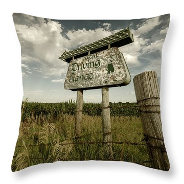 Ideal Driving Range Throw Pillow