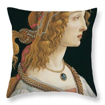 Idealized Portrait Of A Lady Throw Pillow