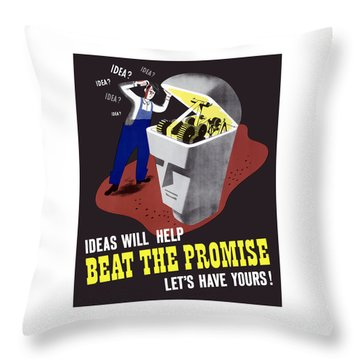 Throw Pillow featuring the digital art Ideas Will Help Beat The Promise by War Is Hell Store