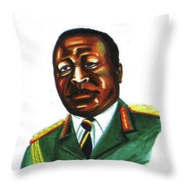 Idi Amin Dada Throw Pillow