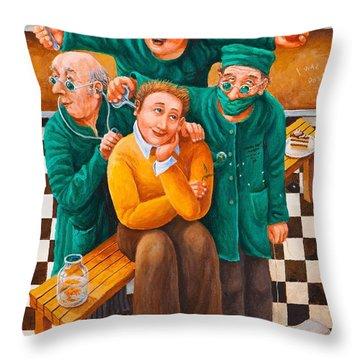 Idiot Savant Throw Pillow