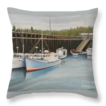 Idle At Low Tide Throw Pillow