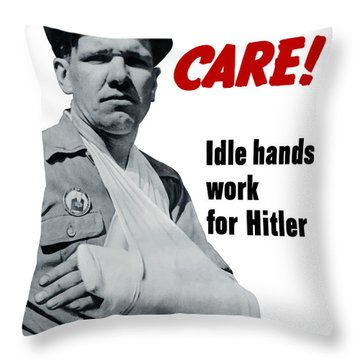 Idle Hands Work For Hitler Throw Pillow