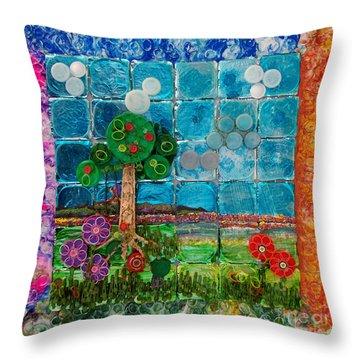 Idyllic Childhood Throw Pillow by Lori Kingston
