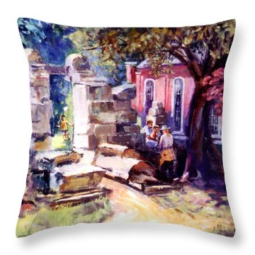 Idyllic Landscape Throw Pillow by Stan Esson