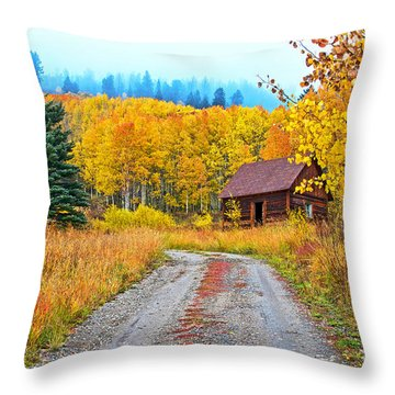 Idyllic Nostalgia Throw Pillow