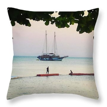 Throw Pillow featuring the photograph Idyllic Setting To Idle The Time Away by Mr Photojimsf