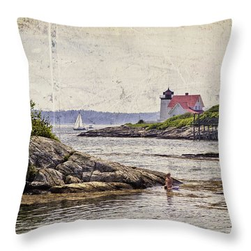 Idyllic Summer Days Throw Pillow
