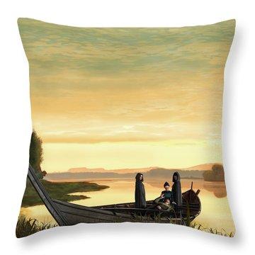 Idylls Of The King Throw Pillow