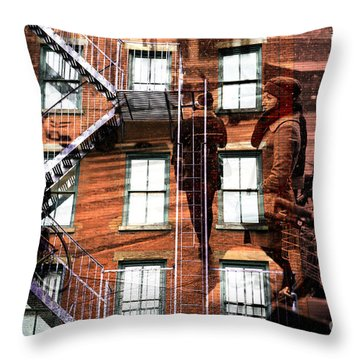Throw Pillow featuring the photograph If I Can Make It Here by John Rizzuto