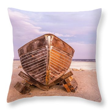 Throw Pillow featuring the photograph If I Had A Boat by Peter Tellone