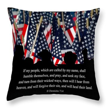 If My People Throw Pillow by Carolyn Marshall
