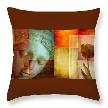 Throw Pillow featuring the digital art If Only Words Could Say by Patricia Strand