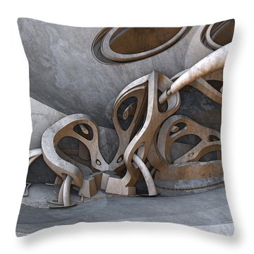 If Picasso Made Fractals Throw Pillow