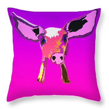 If Pigs Could Fly Throw Pillow by James Bethanis