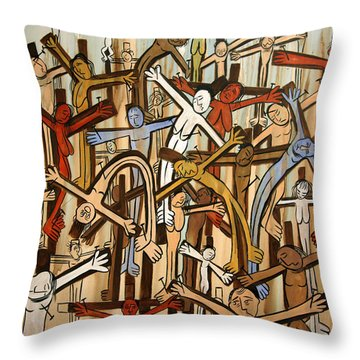 If There Was No Savior Throw Pillow by Anthony Falbo