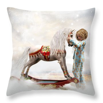 Throw Pillow featuring the digital art If We Believe by Shanina Conway