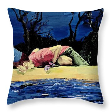 Throw Pillow featuring the painting If You Believe In Magic by Rene Capone