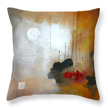 If You Forget Me Throw Pillow by Vital Germaine