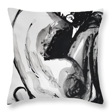 Throw Pillow featuring the painting If You Leave Me Now by Jarko Aka Lui Grande