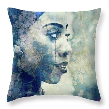 Throw Pillow featuring the digital art If You Leave Me Now  by Paul Lovering