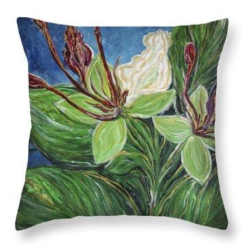 Ifit Flower Guam Throw Pillow