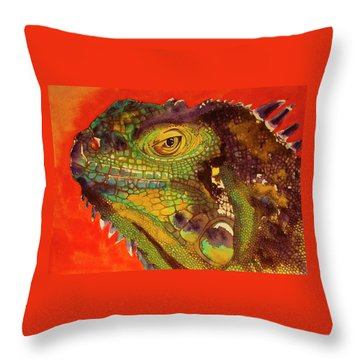 Throw Pillow featuring the painting Iggy by Cynthia Powell