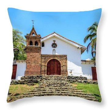 Iglesia De San Antonio Throw Pillow