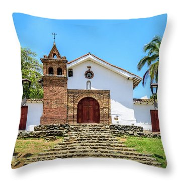 Iglesia De San Antonio Throw Pillow