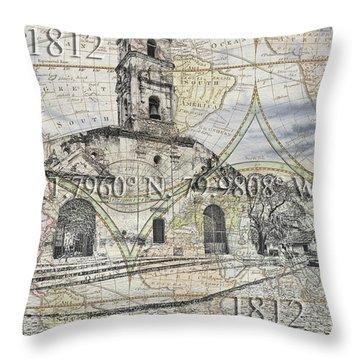 Iglesia De Santa Ana Passport Throw Pillow