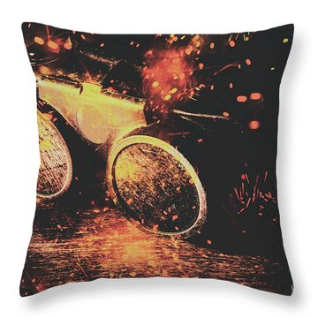 Steel Construction Throw Pillows