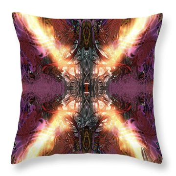 Throw Pillow featuring the digital art Ignition by Reed Novotny
