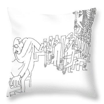 Igor Stravinsky (1882-1971) Throw Pillow by Granger