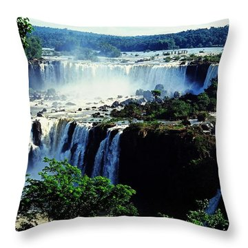 Iguacu Waterfalls Throw Pillow by Juergen Weiss