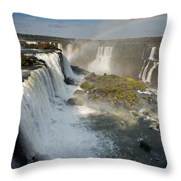 Upper Iguassu Falls Throw Pillow by Aivar Mikko
