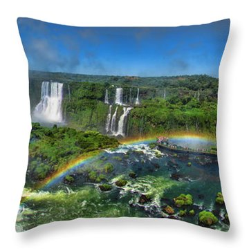 Iguazu Panorama Throw Pillow by David Gleeson