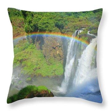 Iguazu Rainbow Throw Pillow
