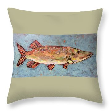 Ike The Pike Throw Pillow