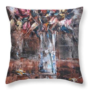 Ikebana Iv Throw Pillow