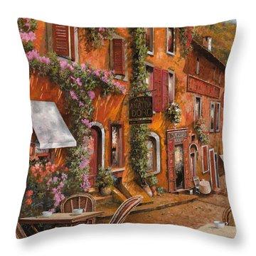 Il Bar Sulla Discesa Throw Pillow by Guido Borelli