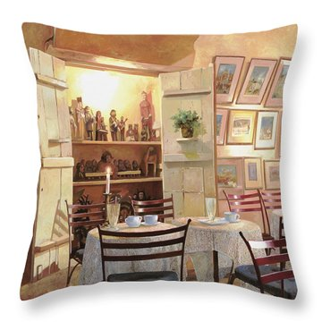 Tea Rooms Throw Pillows