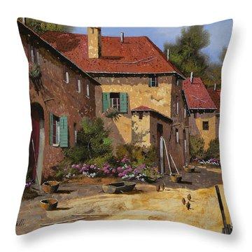 Il Carretto Throw Pillow by Guido Borelli