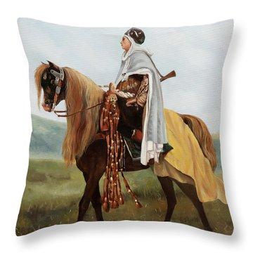 Il Cavaliere Giallo Throw Pillow