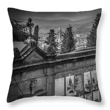 Il Cimitero E Il Duomo Throw Pillow by Sonny Marcyan